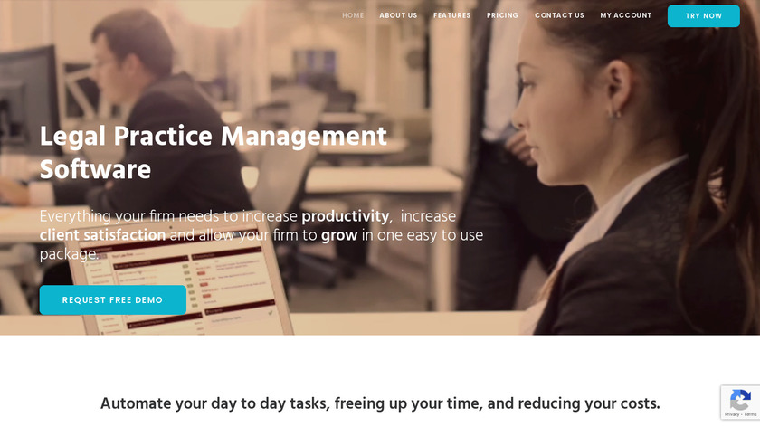 The Legal Assistant Landing Page