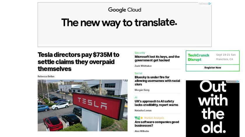 TechCrunch Landing Page