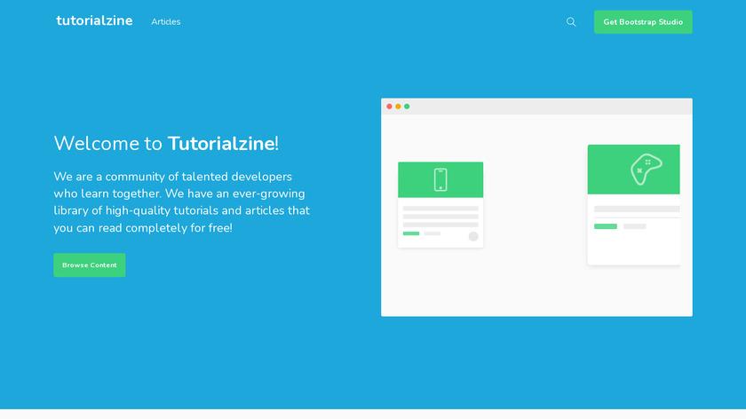Tutorialzine Landing Page
