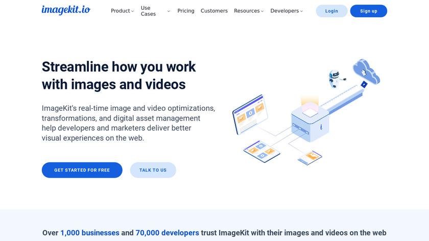 ImageKit.io Landing Page