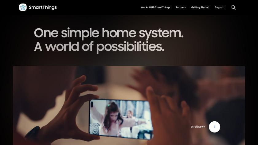 SmartThings Landing Page