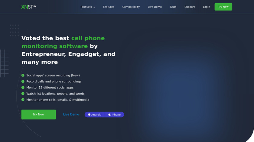XNSPY Landing Page