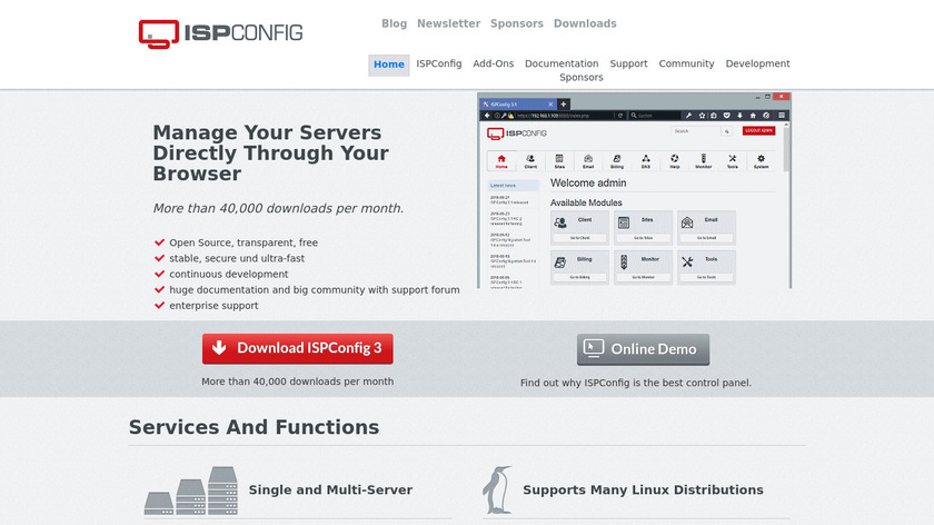 ISPConfig Landing Page
