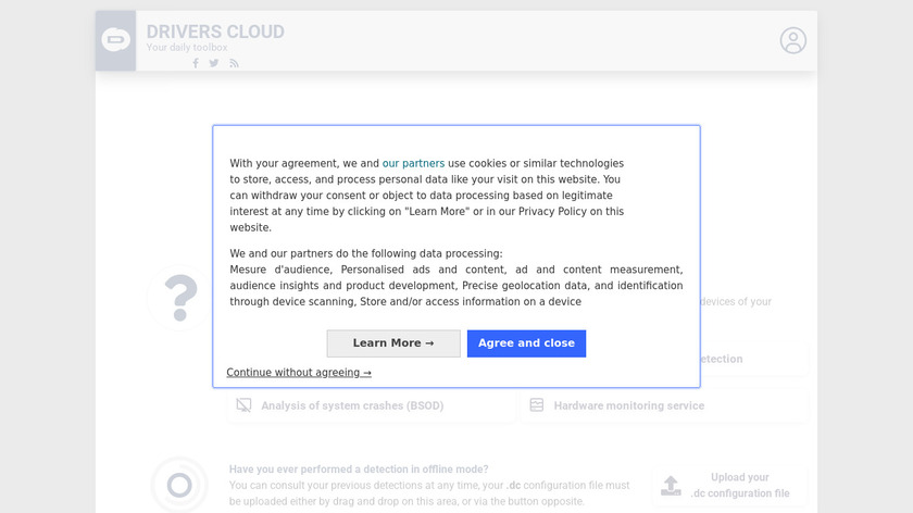 DriversCloud.com Landing Page