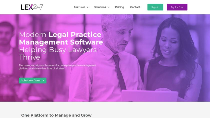 LEX247 Landing Page