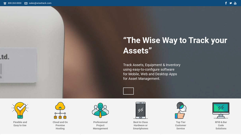 WiseTrack Landing Page