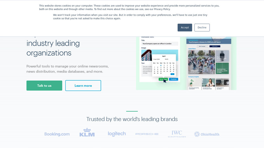PressPage Landing Page