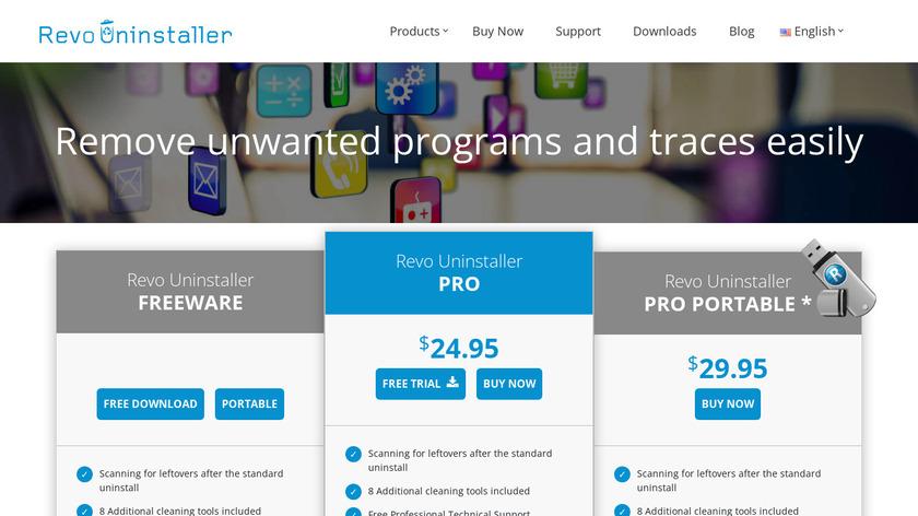 Revo Uninstaller Landing Page
