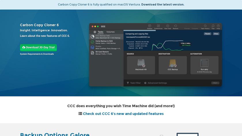 Carbon Copy Cloner Landing Page