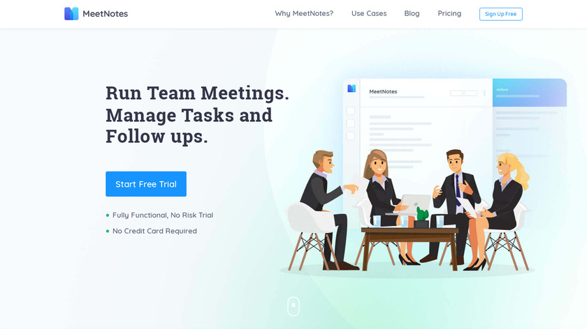 MeetNotes Landing Page
