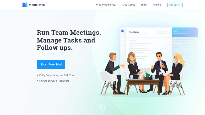 MeetNotes Landing Page