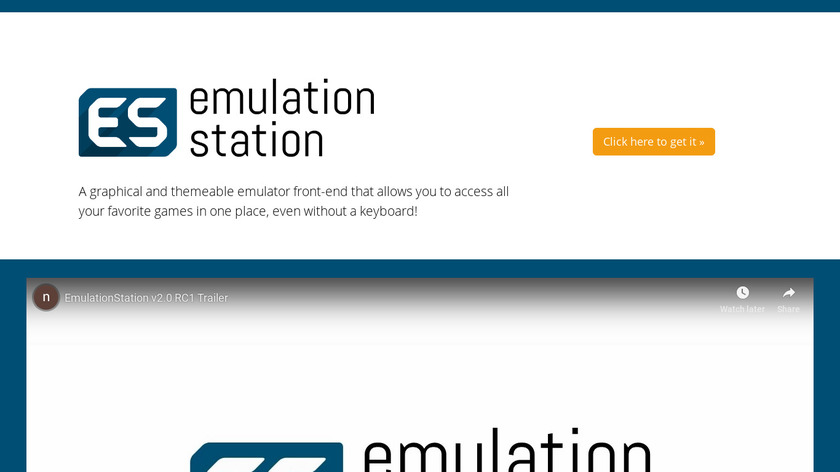 EmulationStation Landing Page