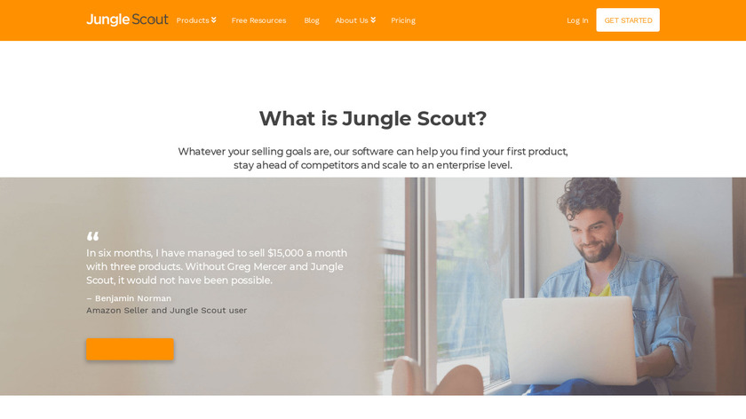 Jungle Scout Landing Page