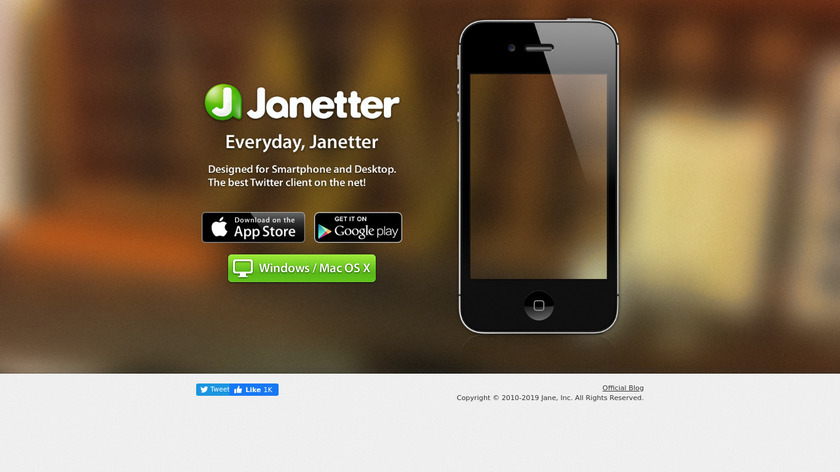 Janetter Landing Page