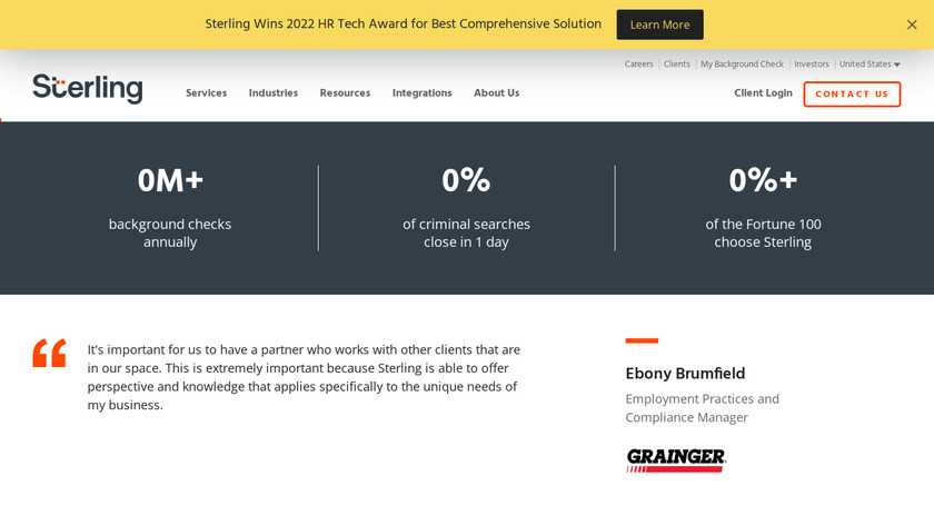 Sterling Talent Solutions Landing Page