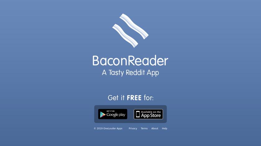 BaconReader Landing Page