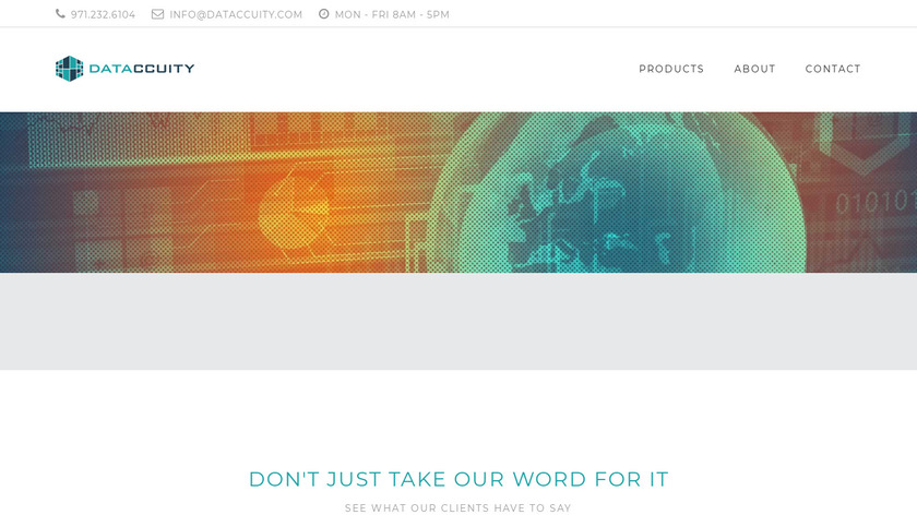 Dataccuity Landing Page