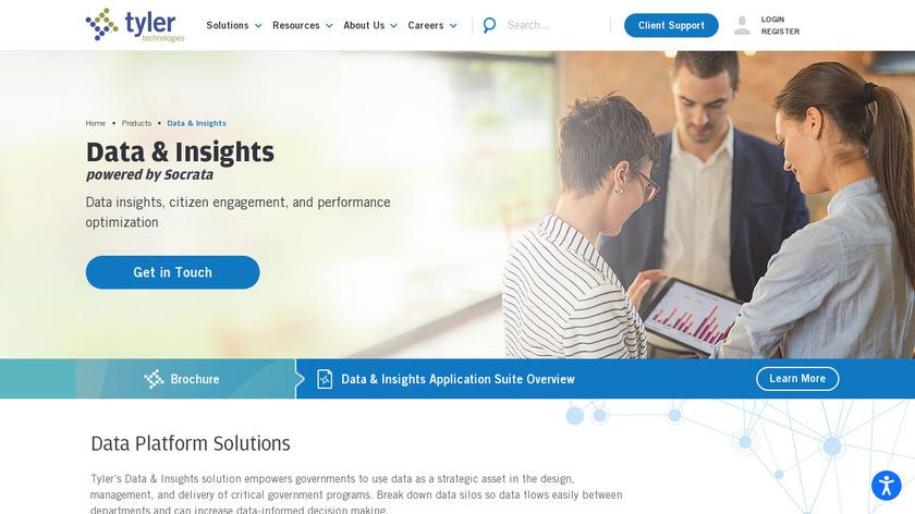 Socrata Open Data Portal Landing Page