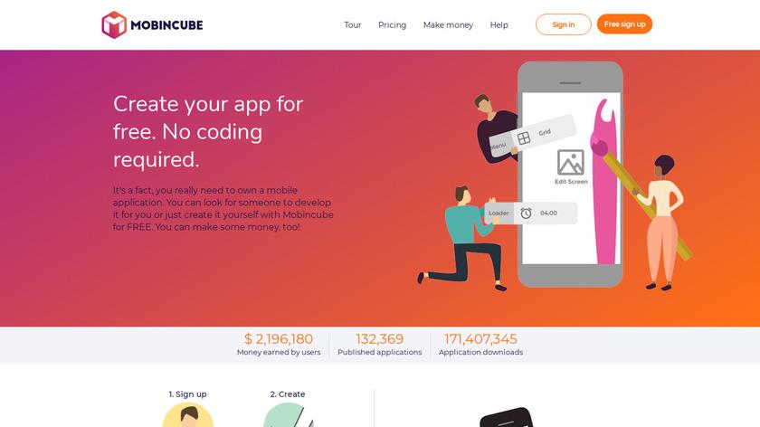 Mobincube Landing Page