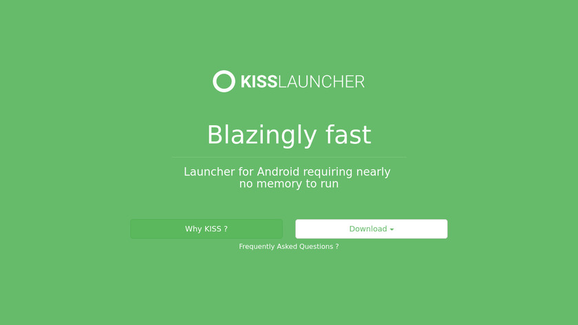KISS Launcher Landing Page