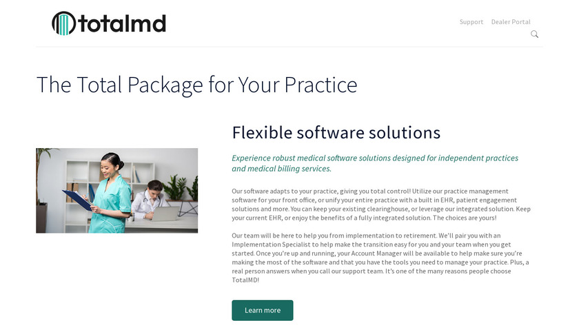 TotalMD Landing Page