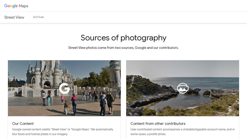 Google Street View Landing Page