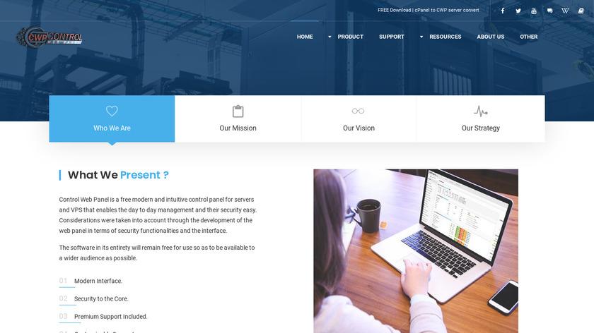 CentOS Web Panel Landing Page