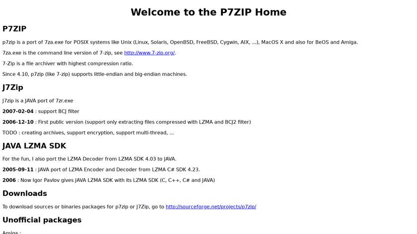 p7zip Landing Page
