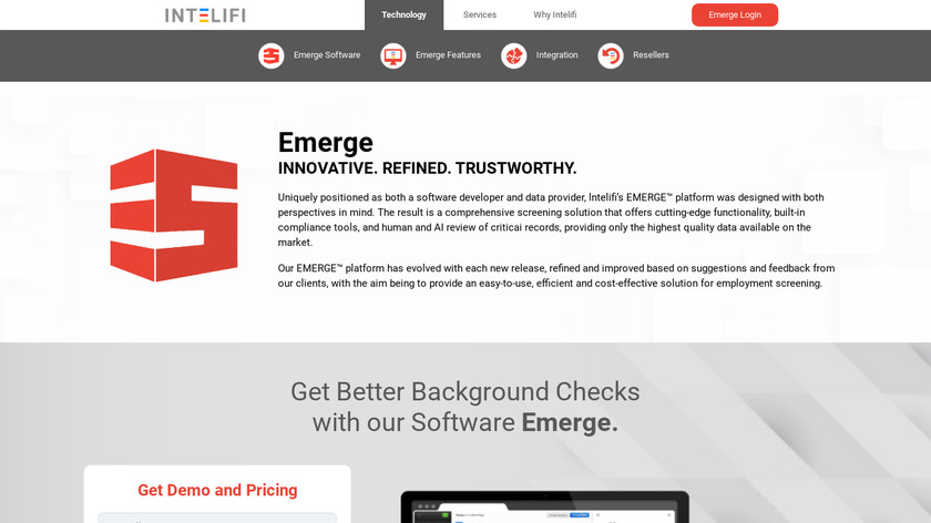 Intelifi Background Check Software Landing Page