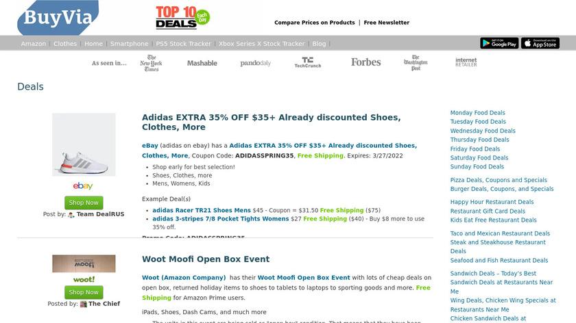 BuyVia Landing Page