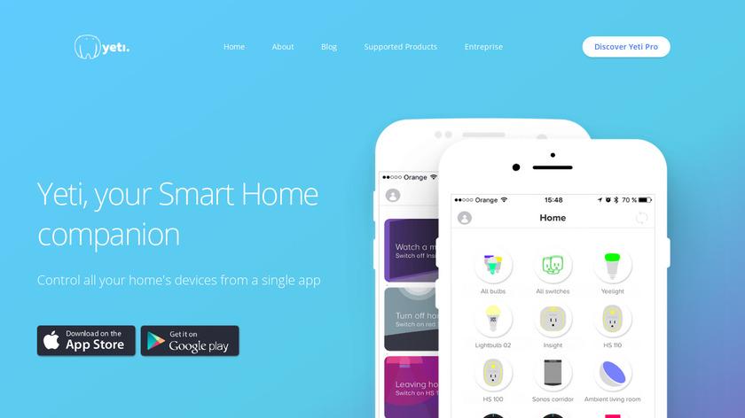 techylist.com Yeti Smart Home Landing Page