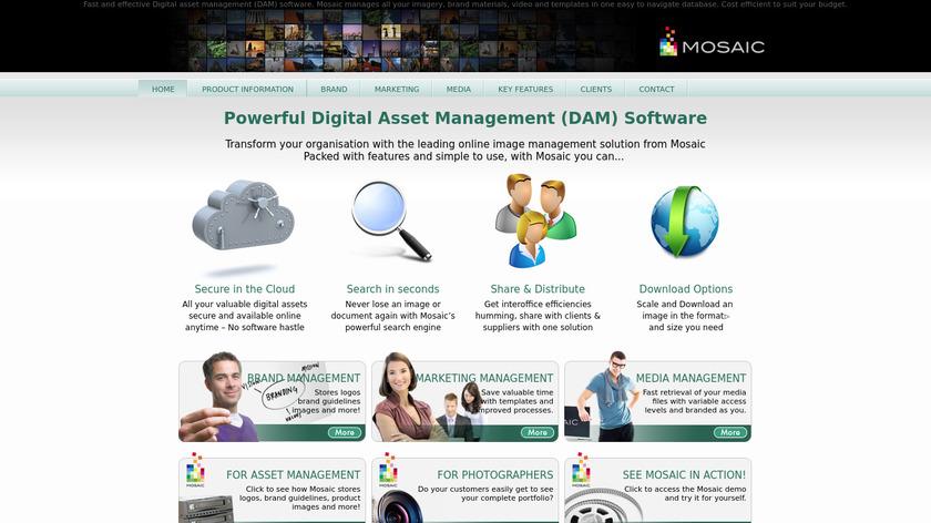 Mosaic Landing Page