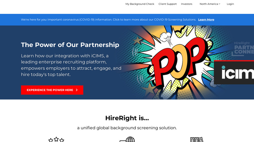 HireRight Landing Page