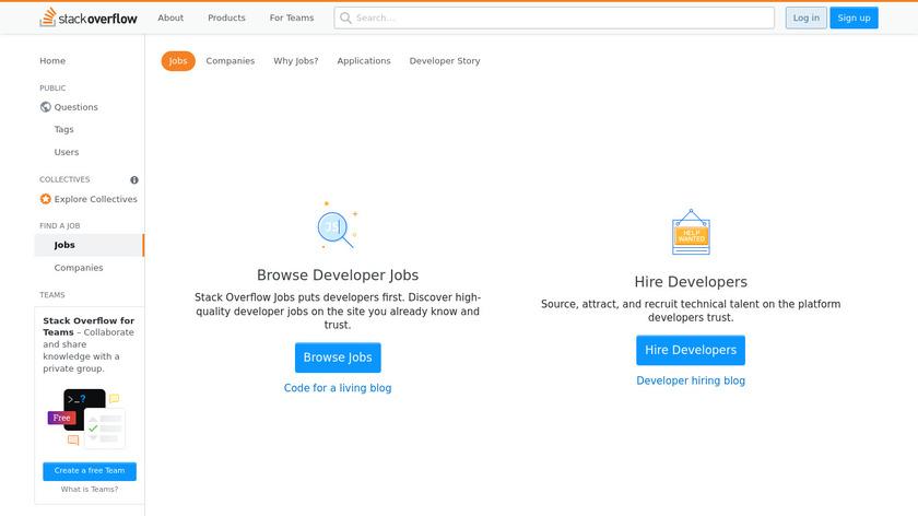 Stack Overflow Careers Landing Page