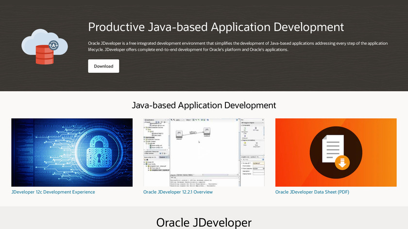 Oracle JDeveloper Landing Page