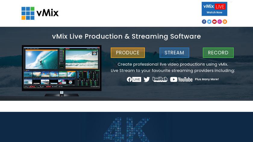 vMix Landing Page