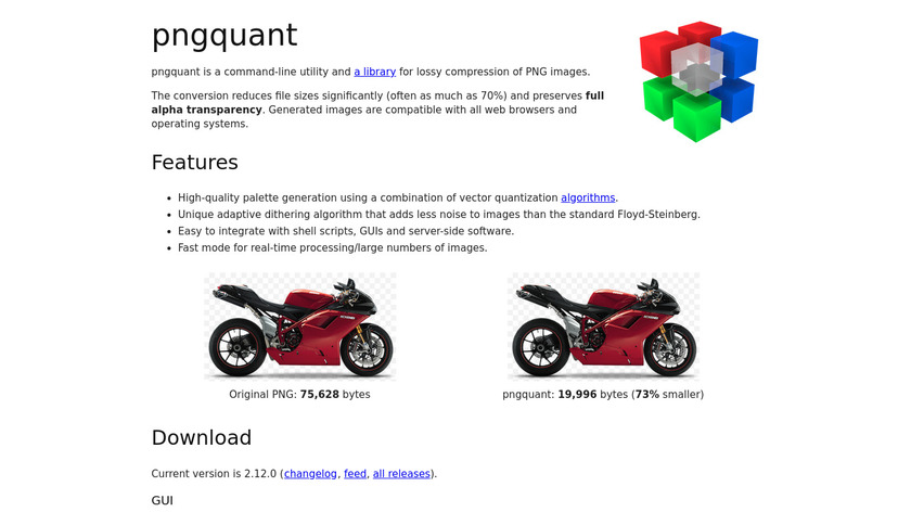 pngquant Landing Page