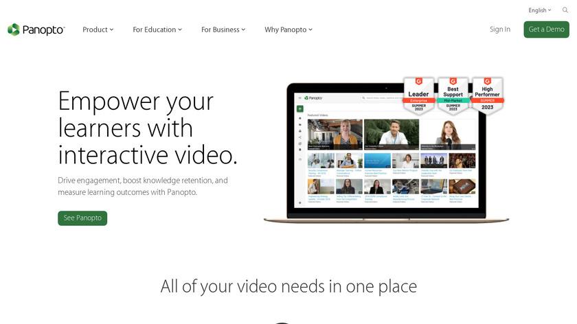 Panopto Landing Page