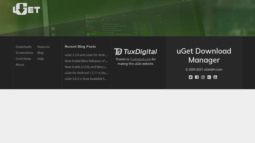 uGet Landing Page
