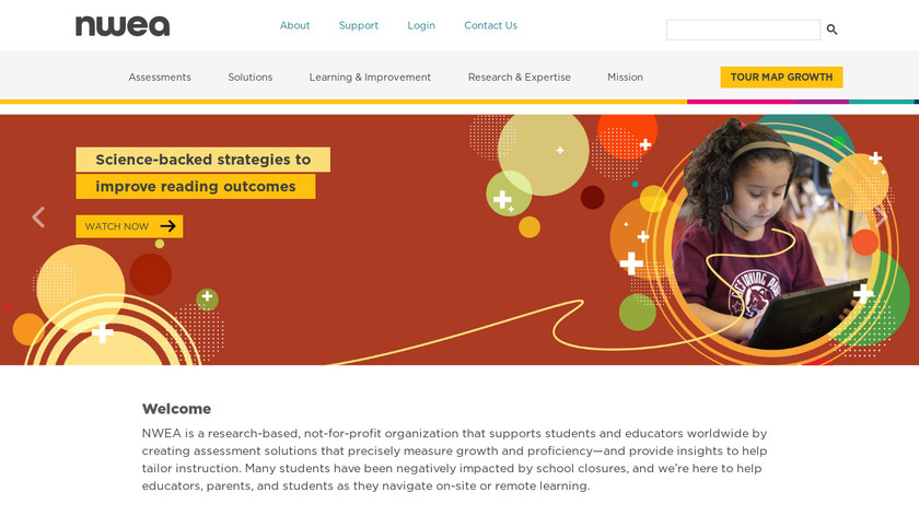 NWEA Assessments Landing Page