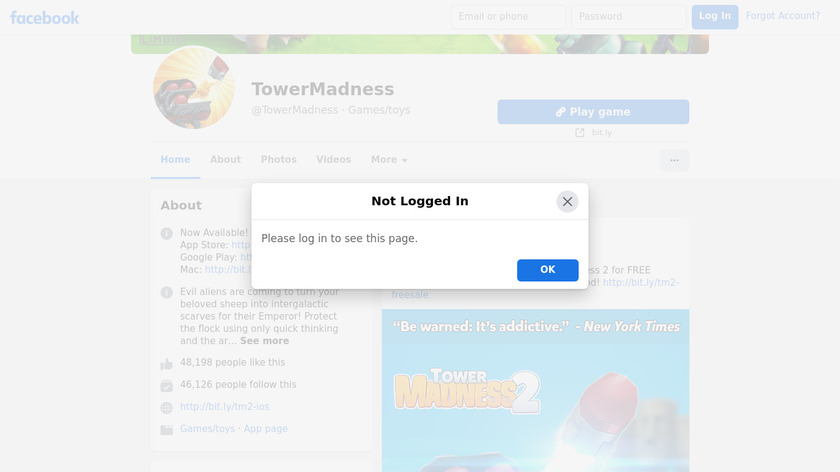 TowerMadness Landing Page