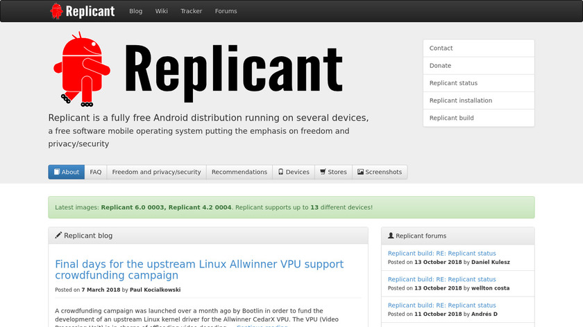 Replicant Landing Page