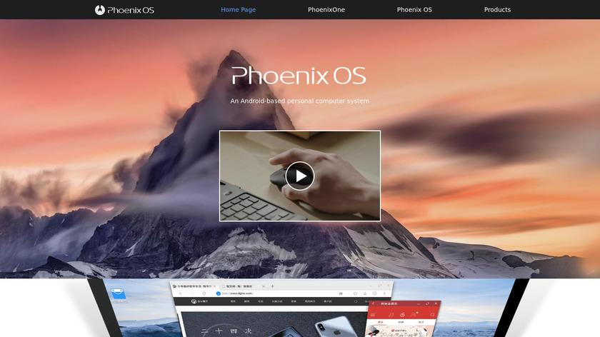 Phoenix OS Landing Page