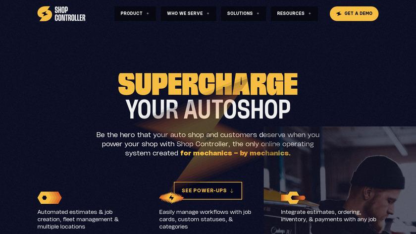 ShopController Landing Page