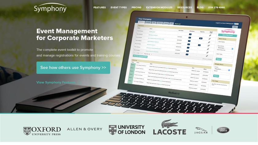 Symphony Landing Page