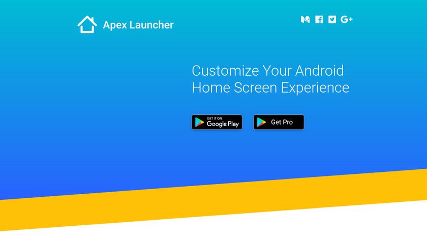 Apex Launcher Landing Page