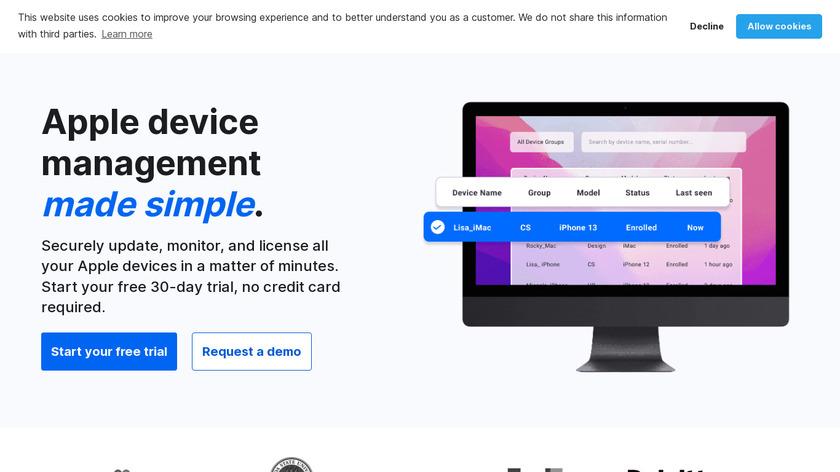 SimpleMDM Landing Page