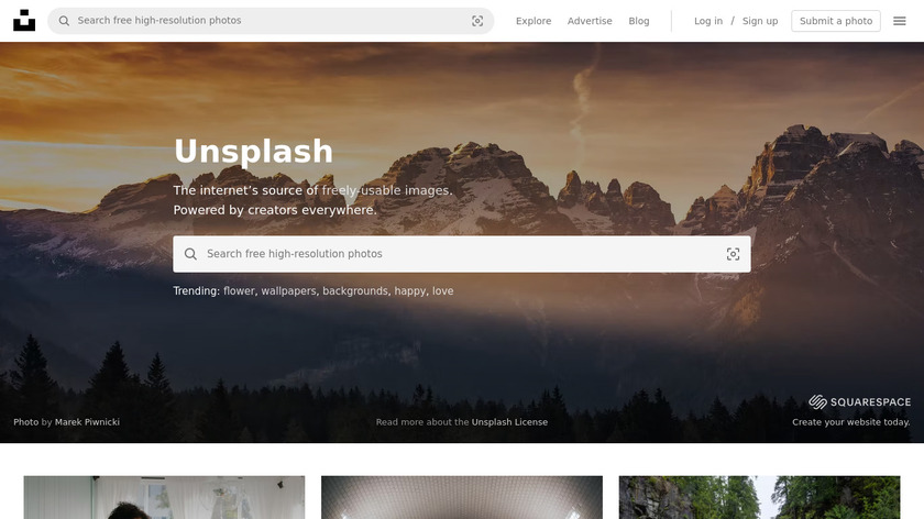 Unsplash Landing Page