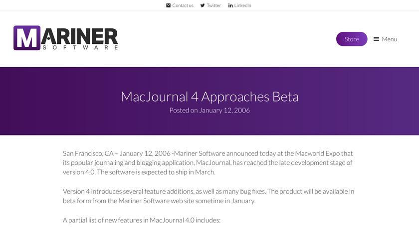 MacJournal Landing Page