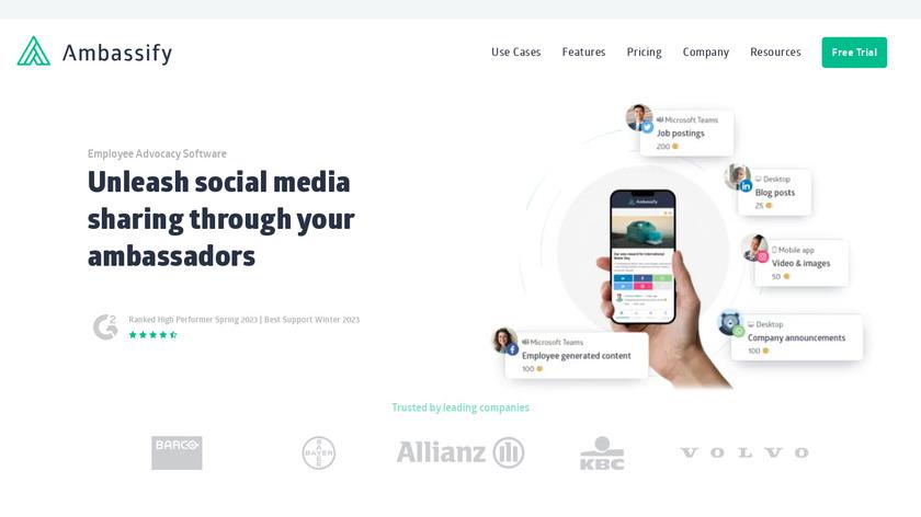 Ambassify Landing Page